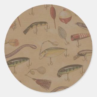 Fishing Round Sticker