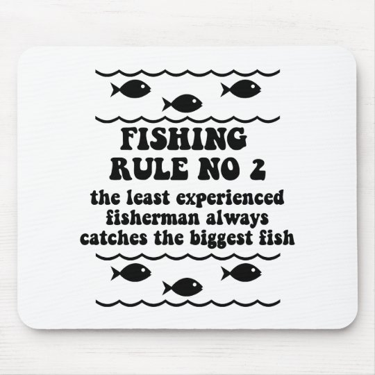 Fishing Rule No 2 Mouse Mat
