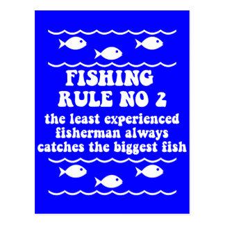 Fishing Rule No 2 Postcard
