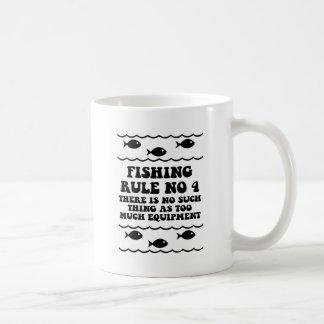Fishing Rule No 4 Basic White Mug