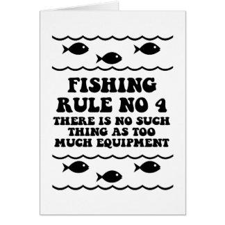 Fishing Rule No 4 Card
