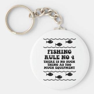 Fishing Rule No 4 Keychain