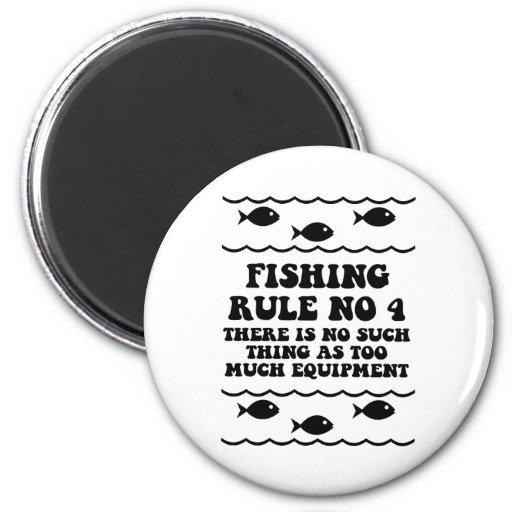 Fishing Rule No 4 Fridge Magnet