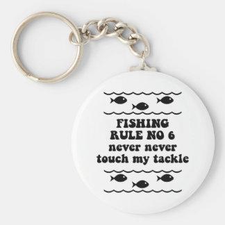 Fishing Rule No 6 Key Ring
