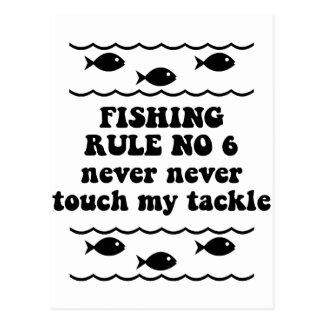 Fishing Rule No 6 Postcard