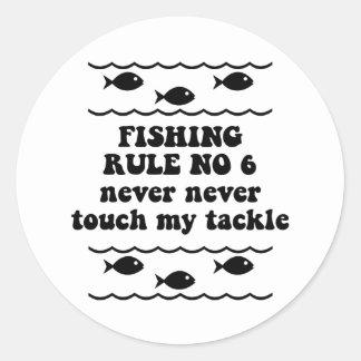 Fishing Rule No 6 Sticker