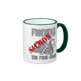 Fishing Salmon The Reel Deal Fishing Shirt Ringer Mug