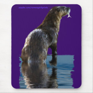Fishing SEA OTTER Mousepads