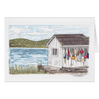 Fishing Shack in Nova Scotia sketch Card