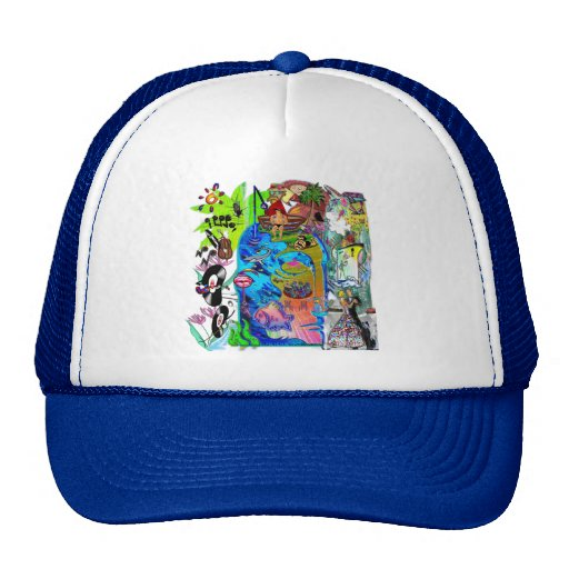 Fishing Shark Infested Waters d Mesh Hat