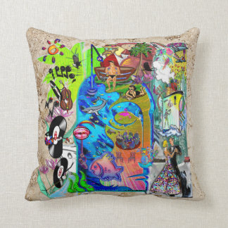 Fishing Shark Infested Waters d Throw Cushion
