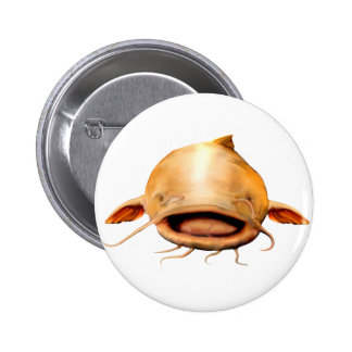 Fishing smile 6 cm round badge