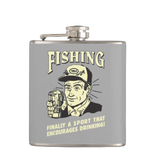 Fishing: Sport Encourages Drinking Hip Flask