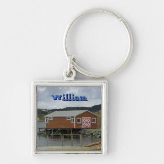 Fishing Stage in Twillingate Keychain