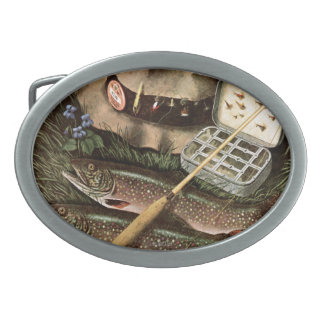 Fishing Still Life Belt Buckle