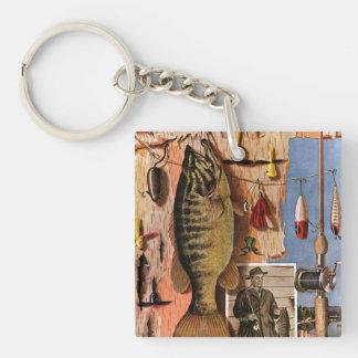 Fishing Still Life by John Atherton Key Ring