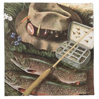 Fishing Still Life Cloth Napkin