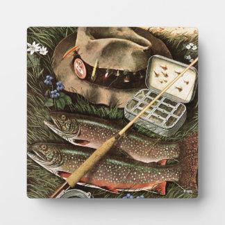 Fishing Still Life Display Plaque