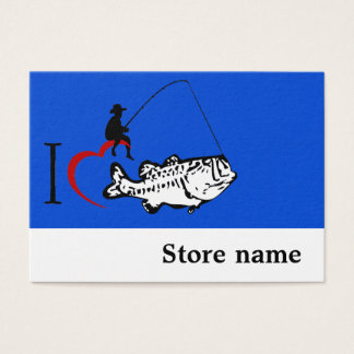 Fishing store business card