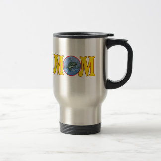 Fishing T-shirts and Gifts For Mom 15 Oz Stainless Steel Travel Mug