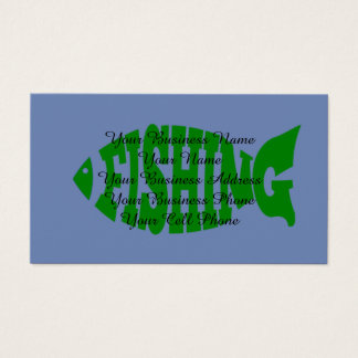 Fishing Text Business Card