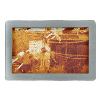 fishing & the beach (brighton 07) rectangular belt buckle