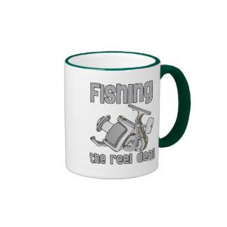 Fishing The Reel Deal Ringer Mug