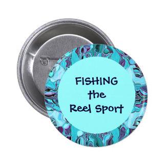 fishing the reel sport pinback button