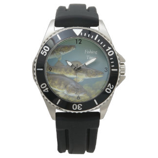 """""""Fishing Time"""" With Three Walleye Pike Watch"""