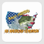 Fishing Tradition Square Stickers