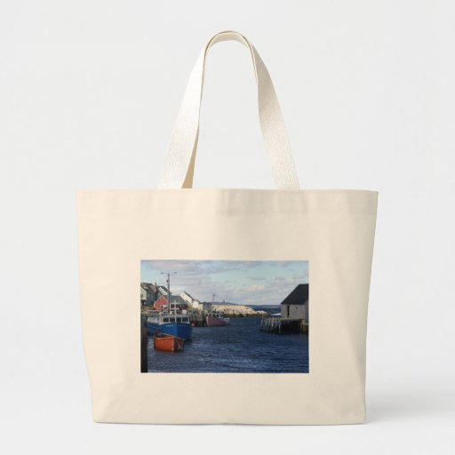 Fishing Village at Peggy's Cove Canvas Bag