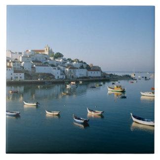Fishing Village of Ferragudo, Algarve, Portugal 2 Tile