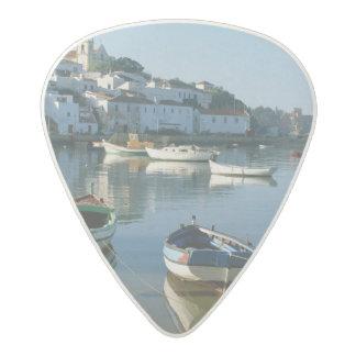 Fishing Village of Ferragudo, Algarve, Portugal Acetal Guitar Pick