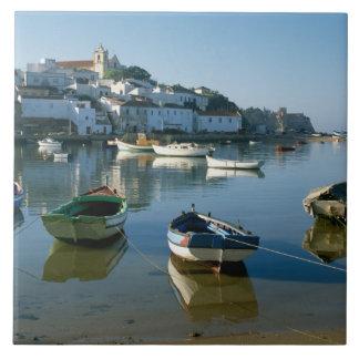 Fishing Village of Ferragudo, Algarve, Portugal Tile