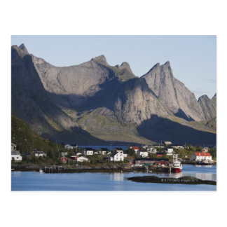 Fishing village Reine, Moskenesoy island, Postcard