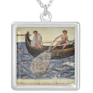Fishing with a Net Silver Plated Necklace
