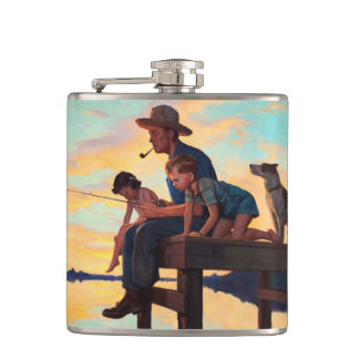 Fishing with Dad. Father's Day Gift Flasks