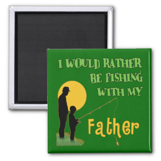 Fishing With Father Fridge Magnet