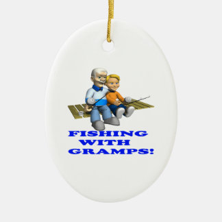 Fishing With Gramps Christmas Ornament
