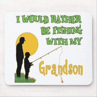 Fishing With Grandson Mouse Pad