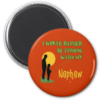 Fishing With My Nephew 6 Cm Round Magnet