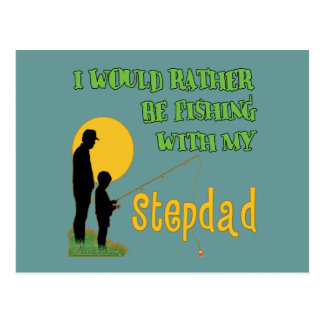 Fishing With My Stepdad Postcard