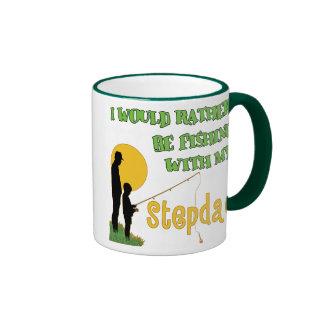 Fishing With My Stepdad Ringer Coffee Mug