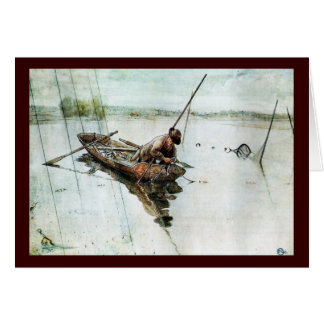 Fishing with Nets 1905 Greeting Card