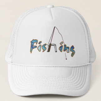 Fishing with Rod Trucker Hat