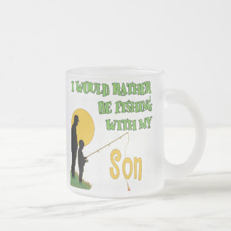 Fishing With Son Frosted Glass Mug