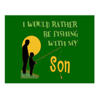 Fishing With Son Postcards