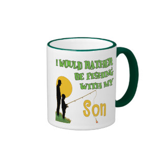 Fishing With Son Ringer Coffee Mug