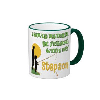 Fishing With Stepson Ringer Mug