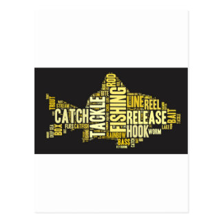 Fishing Word Cloud Postcard